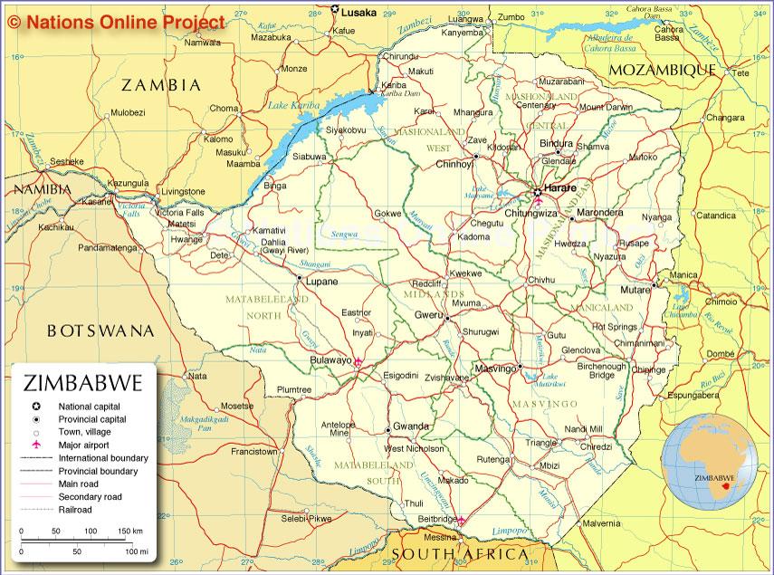 Countries Border Zimbabwe