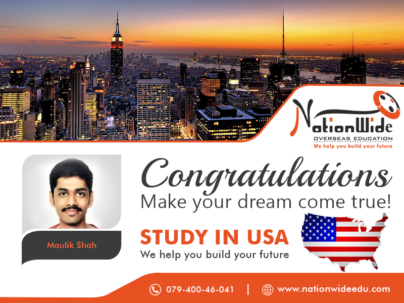 Congratulations & Bon Voyage for Overseas Education in USA