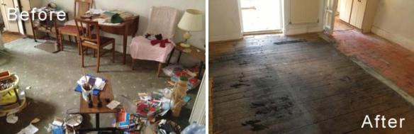 Cluttered House Clearance Before & After Photos