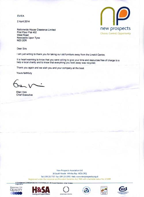 Office Clearance North Shields Testimonial