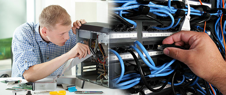 Deerfield Illinois Onsite Computer PC & Printer Repair, Network, Voice & Data Inside Wiring Services