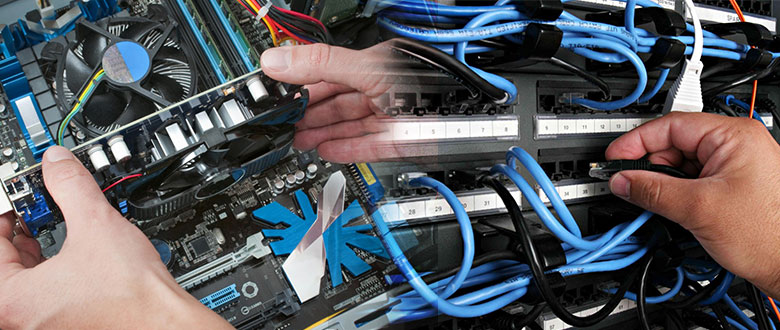 Waukegan Illinois On Site Computer PC & Printer Repair, Networks, Voice & Data Low Voltage Cabling Services