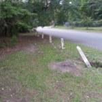 Old Broken Concrete Fence