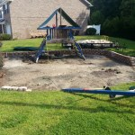 Retaining Wall Installation Playground Removal