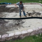French Drain Installation Into Playground