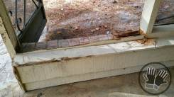 Screen Porch with Rot and Torn Screen