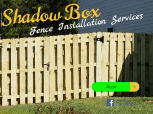 Shadow Box Style Fence
