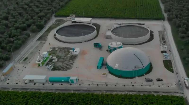 Un impianto di Biogas alimentato con sansa di olive