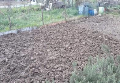 In inverno vangare la terra prepara il terreno alla primavera.