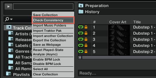 Check Consistency locate
