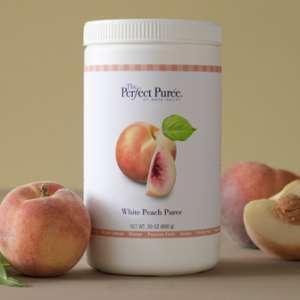 Perfect Puree White Peach, 30 oz