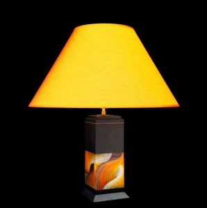 Luminaires Lampe en bois et fibres de blé K'anchay Nativos