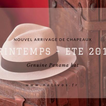 Nouvel arrivage de chapeaux Panamas Nativos