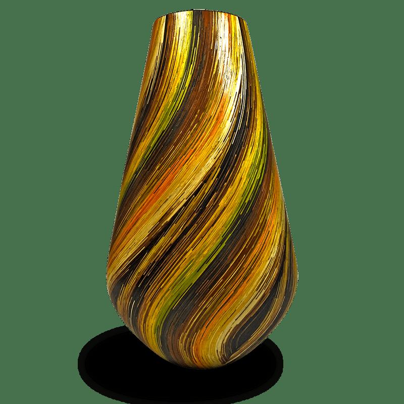 vase marqueterie paille nativos artisanat