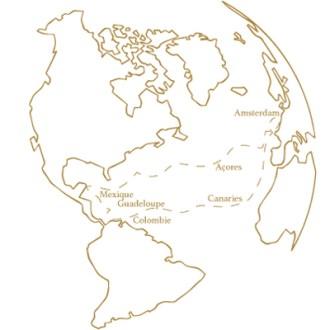 Transatlantique en voilier, route maritime des Alizés