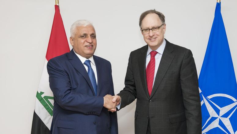 NATO Deputy Secretary Genera Alexander Vershbow meets with Iraqi National Security Advisor Faleh al-Fayyad