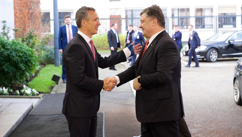 The President of Ukraine, Petro Poroshenko visits NATO and meets with NATO Secretary General Jens Stoltenberg