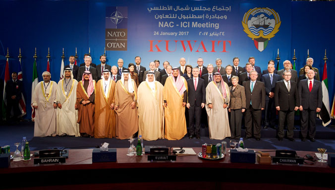 Family photo of North Atlantic Council with ICI Countries