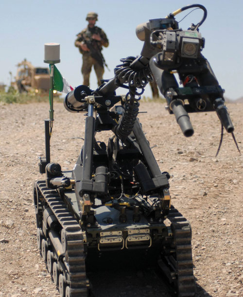 Safer route clearance: robots counter<br /><br /><br /><br /><br /><br /><br />         improvised explosive devices (IEDs).