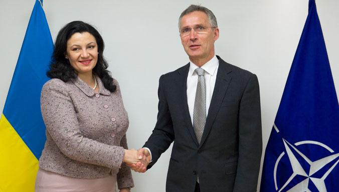 The Vice Prime Minister for Euro-Atlantic Integration of Ukraine, Ivanna Klympush-Tsintsadze visits NATO and meets with NATO Secretary General Jens Stoltenberg