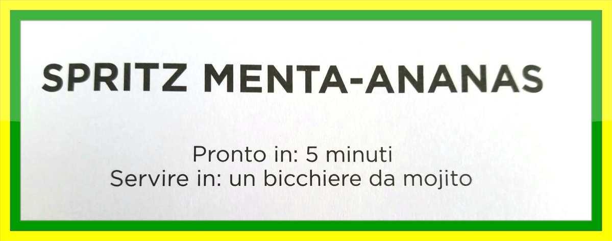 Spritz Menta-Ananas il Mocktail analcolico con gusto e stile