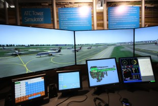 Air Traffic Control Simulator showing planes lining up for take-off