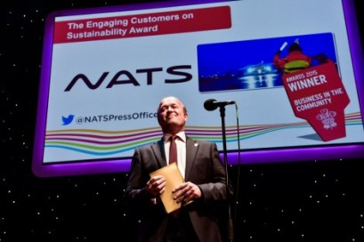 William Ostrom, Corporate Communications Director, Kingfisher plc, who chaired the judging panel announces NATS as the winner