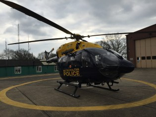 A National Police Air Services helicopter took part in the flight trials