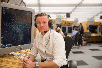 Air traffic controller, Steve Green