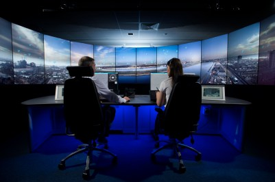 The new NATS digital remote tower control room for London City Airport.