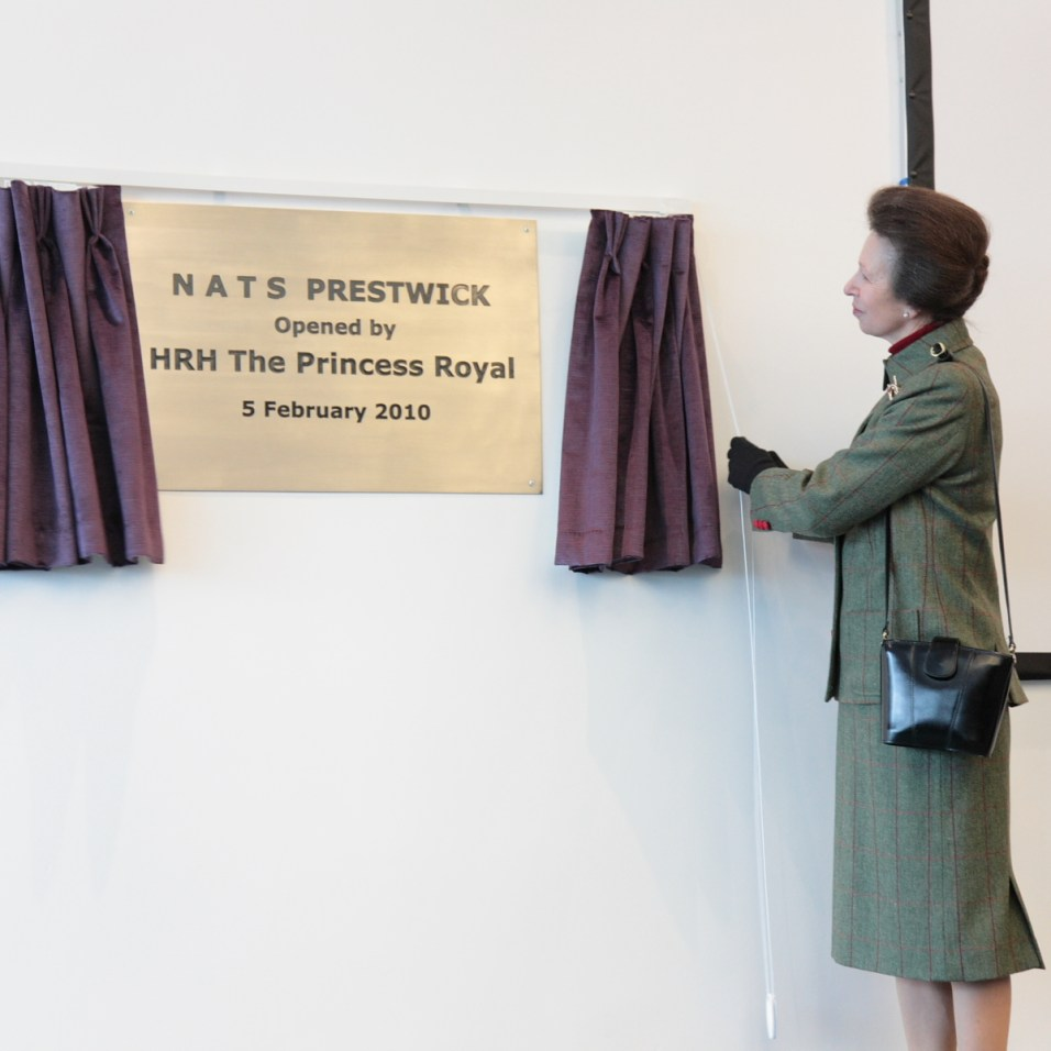 The Princess Royal unveils plaque