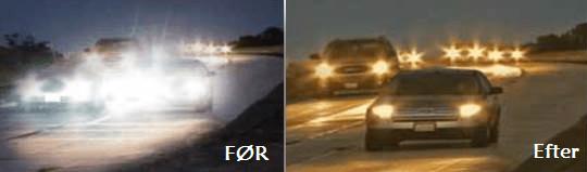 Bliver du blændet af de modkørende biler?