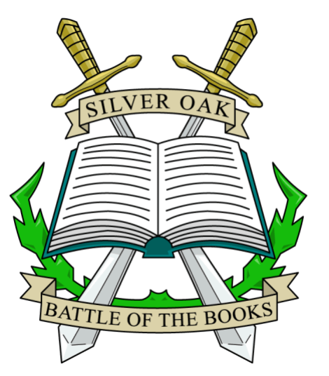 Emblem for Silver Oak Elementary school's reading program