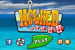 UI mockup for the mobile version of the game Hooked