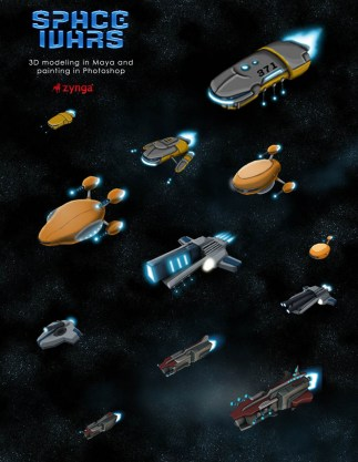 Various Space Wars spaceships
