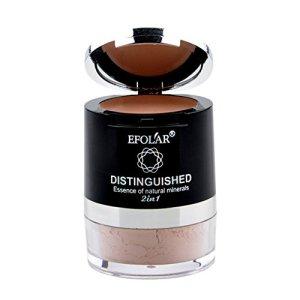 KAYI Concealer + Poudre libre 2 en 1 Palette – Correcteur de couleur, Poudre de finition de contrôle d'huile – Facile à transporter