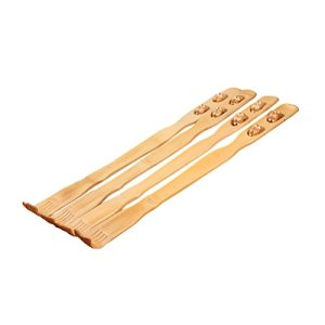 LAAT Gratte-dos Gratter démangeaisons Massage roulant Bois En Bois Bambou Pour Corps Cou Dos Épaule Massage