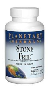 Planetary Herbals, Stone Free, 820mg x90tabs – Pierre de Rein, appui de Vésicule Biliaire – avec la racine de pissenlit et la racine de guimauve