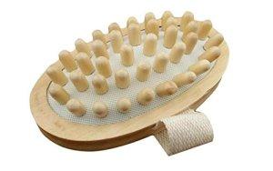 Kolimo Pinceau de corps en bois naturel tenu dans la main de massager pour la réduction de cellulites