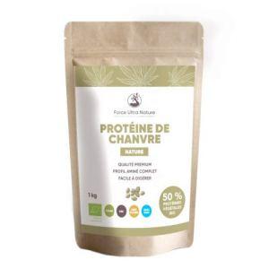Protéine de chanvre Nature certifiée BIO – 100% Vegan, sans OGM, sans gluten – 1kg