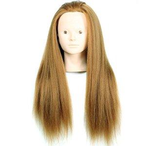 Royalvirgin Femme Mannequin Mannequin Cheveux Yaki Mannequin Mannequin 24 «Mannequin Coiffure Poupée Cheveux Femmes Formation Educative Coiffeur