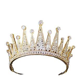 ZCM Couronne De Mariée,Couronne De Palais De Princesse En Mariée Accessoires De Mariage (Couleur : Or)