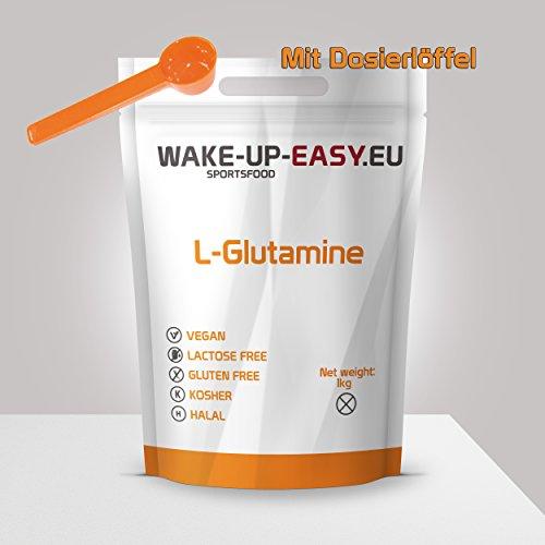 Poudre de L-Glutamine 1Kg, acides aminés protéinogènes essentiels + cuillère doseuse
