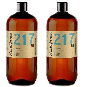 Naissance Huile de Ricin (n° 217) Pressée à froid – 2 litres (2 x 1 litre) – 100% pure, végan, sans hexane, sans OGM