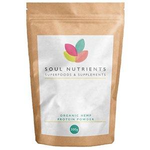 Organic Hemp Protein Powder 300g by Soul Nutrients ☆ Soil Association Certified ☆ Highest quality 100% Hemp Protein Powder ☆