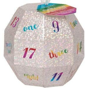 Superbe calendrier de l'Avent Glitter Ball pour ados Maquillage glamour, Balle scintillante contenant 24pièces