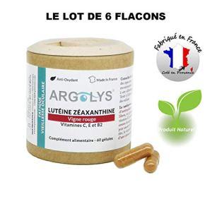 LOT de 6 ● Argolys® Fatigue & Vieillesse Oculaire, les compléments alimentaires Vision créés par S&B Provence – Lutéine, Zéaxanthine, Vigne rouge, beta-carotène, vitamines et minéraux