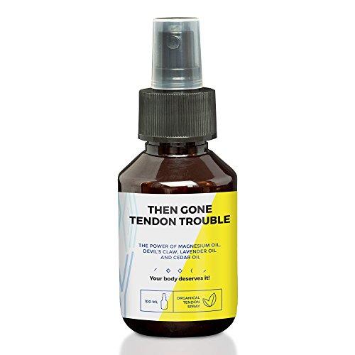 Anti douleur pour tendon de Then Gone Tendon Trouble | 100ml spray soulageant vos tendons | 100% naturel & BIO huile magnesium & griffe du diable