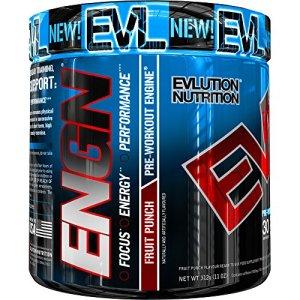 Evlution Nutrition ENGN   Supplément Pre Workout   Emballage de 30 Doses   Goût Punch Aux Fruits
