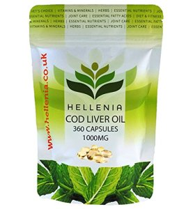 Hellenia 360capsules à l'huile de foie de morue extra forte